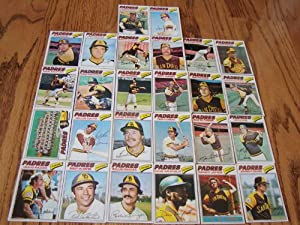 San Diego Padres 1977 Topps Baseball Team Set (27 Cards) (Dave Winfield) (Mike Ivie)... by Topps