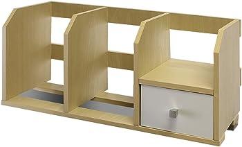 Furinno Pasir 12247SBE/WH Desk Storage Shelf with Bins