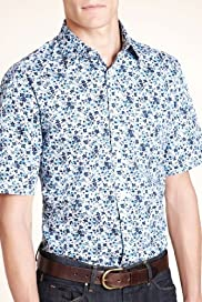 Autograph Pure Cotton Mini Floral Print Shirt [T25-3120A-S]