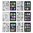 CICI&SISI Nail Art Stamp Collection Set Jumbo 2 - Set of 6 JUMBO Nailart Polish Stamping Manicure Image Plates Accessories Kit (Totaling 216 Images) All New Designs with FREE STAMPER & SCRAPER TOOLS SET PROMOTIONAL OFFER (UK domestic dispatch only)