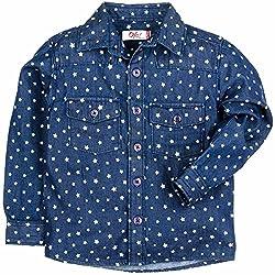 Boys Printed Denim Full Sleeve Shirt - Blue (2-3Y)
