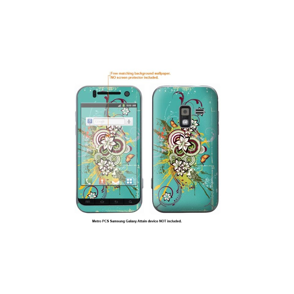 Protective Decal Skin Sticker for Metro PCS Samsung Galaxy Attain 4G case cover Attain 283