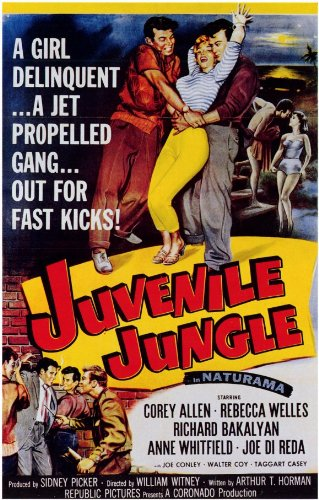 Juvenile Jungle-Poster In Movie 11 x 17 cm x 28 cm, 44 Corey Allen Rebecca Welles Richard Bakalyan Anne Whitfield Joe Di Joe Conley Reda