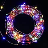 LED Starry String Lights,Oak Leaf 120 LEDs Copper Wire Waterproof Décor Rope Lights for Garden,Home,Patio,Tree,Party,Bedroom,39.2ft Bundle with UL Certified 3.5v Power Adapter