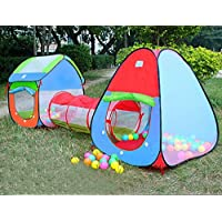 AniiKiss 3Pc. Kids Play Tent Cubby-Tunnel-Teepee Pop-up Children Play Tent ALL IN ONE Great For Indoor And Outdoor...