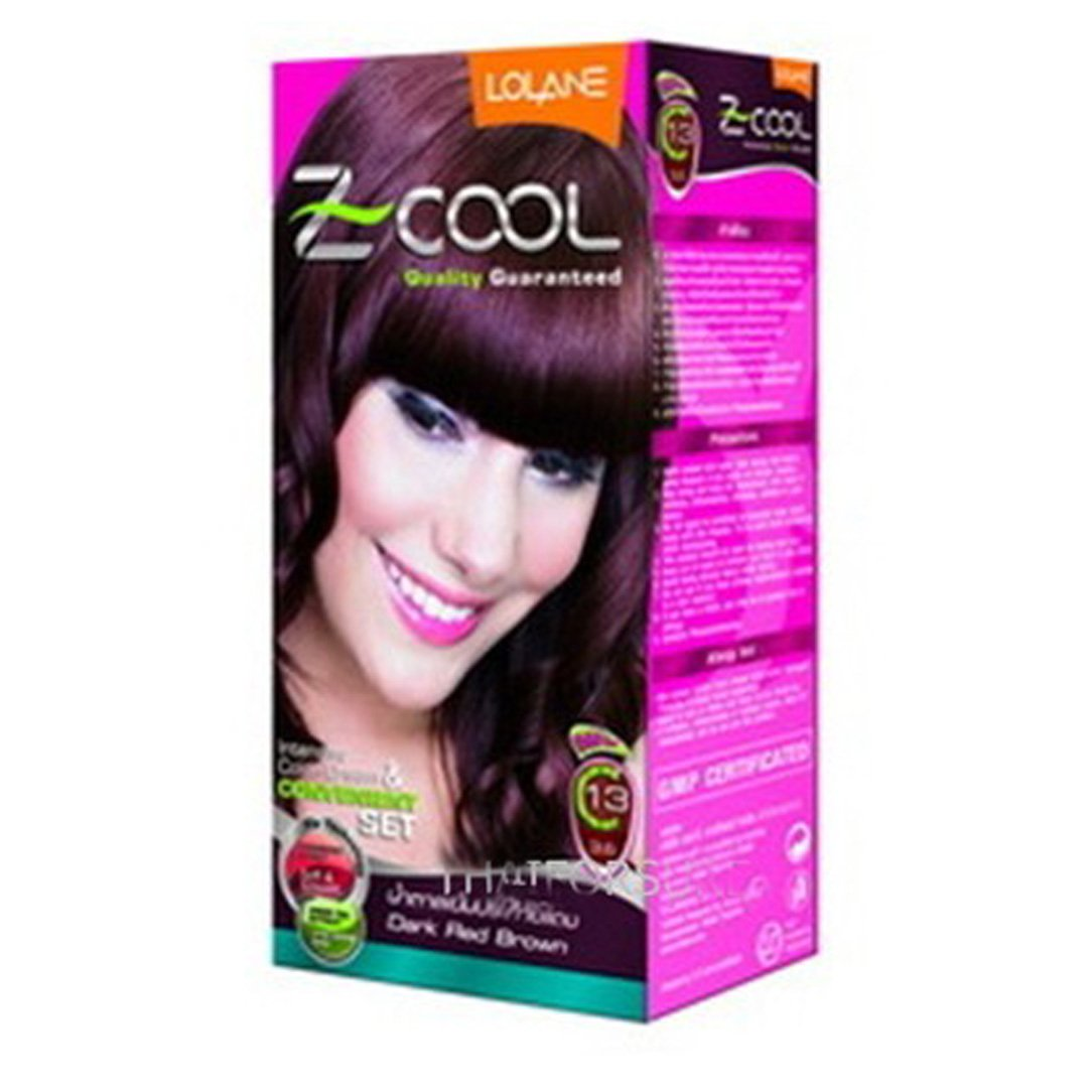 Lolane Hair Permanent Color 'Z-cool - C13' (Dark Red Brown) Kit Set. Product of Thailand (C317) isme rasyan herbal clove toothpaste product of thailand