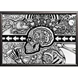 Framed The Conscious Existence 36x24 Poster In Silver Finish Wood Frame Art Print