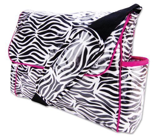Trend Lab Zahara Zebra Print Messenger Bag