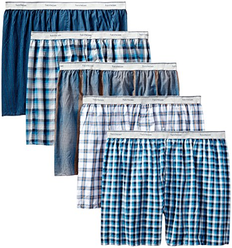 fruit-of-the-loom-mens-contemporary-plaid-and-stripe-boxer-multi-largepack-of-5