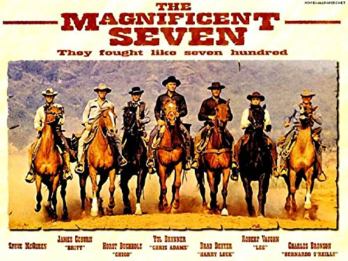 The-Magnificent-Seven-Denzel-And-Fuqua-To-Remake-Classic-The-Magnificent-Seven-1960 Movie Poster Legends Live Forever 12 X 18 (Classic Movie Pictures compare prices)