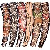 6x Yesurprise Fashion Temporary Fake Slip On Tattoo Sleeve Body Arm Stockings Set Kit