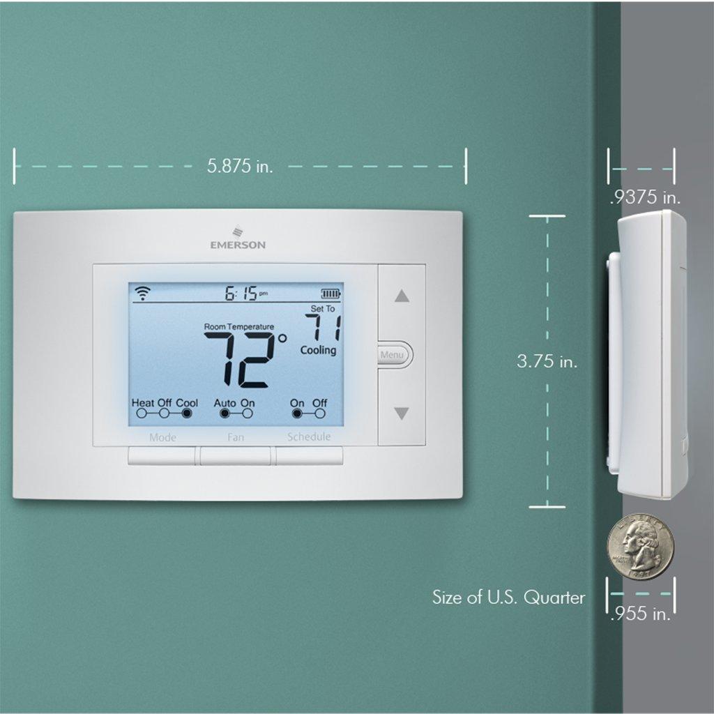 emerson sensi wi fi thermostat 1f86u 42wf for smart home. Black Bedroom Furniture Sets. Home Design Ideas