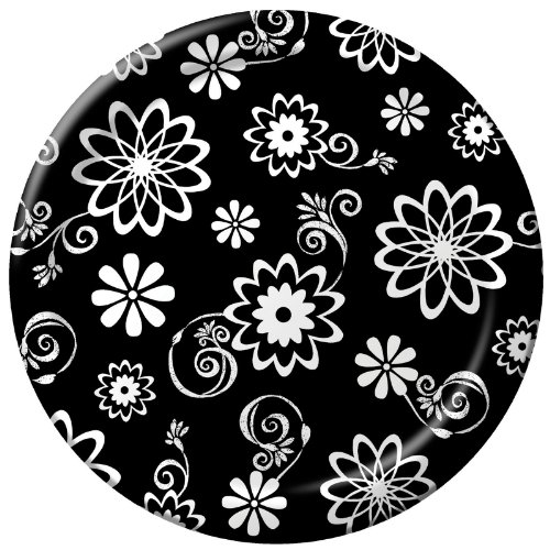 Cosmic Flowers Luncheon Dessert Plates - 1