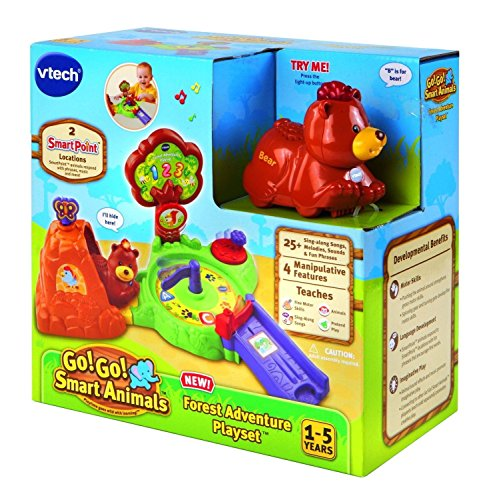 Vtech Go Go Smart Animals Interactive Bear Forest Adventure Playset Track цена
