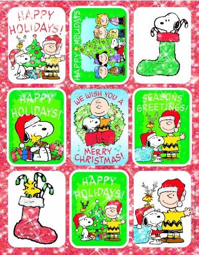 Eureka Peanuts Christmas Stickers