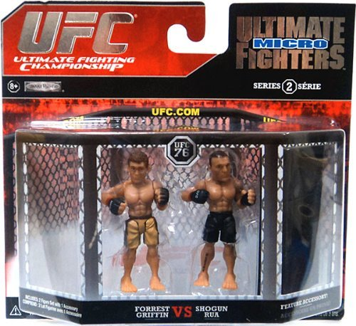 UFC Ultimate Fighting Jakks Pacific Series 2 Micro Figure 2Pack Forrest Griffin vs. Mauricio Shogun Rua - 1