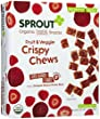 Sprout Toddler Crispy Chews-Red Berry and Beet-3.15 Ounces-10 Pack