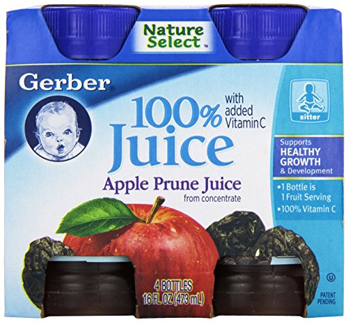 Gerber Juice Apple Prune 4 Ounce 4 Count Baby Toddler