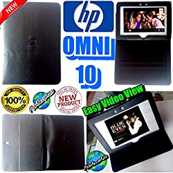 MBW EXECUTIVE LEATHER FLIP FLAP CASE for HP OMNI 10 TABLET FRONT BACK COVER STAND