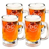 Personalized Beer Mug Stein Glasses Set of 4 (Beer Mug 14oz.)