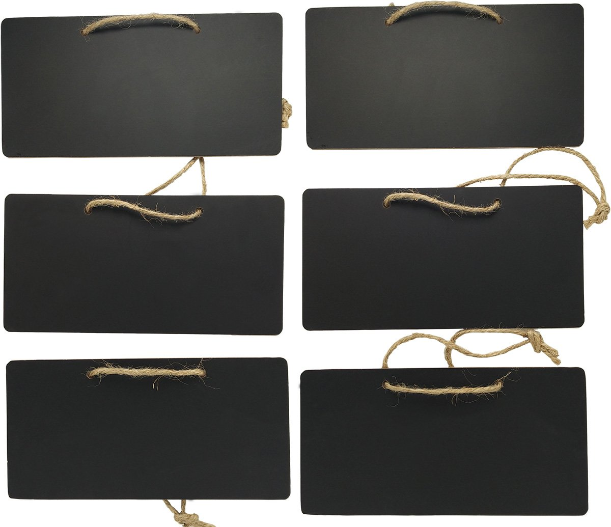 Erasable Rectangle Chalkboards Blackboards display for Message Board Sign , Set of 6 By UHQ Home Products