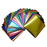 Foil Color Origami Folding Paper 90 Sheets Set Metallic Color