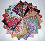 """80 5"""" Among the Flowers Quilting Fabr..."""