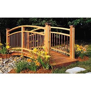 arched garden footbridge woodworking plan