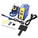 FX-951 Solder Iron Soldering Station with T12-k Iron Tip Holder Support Real time-Temperature Correction 110V US Plug(Blue) (Color: Blue, Tamaño: default)
