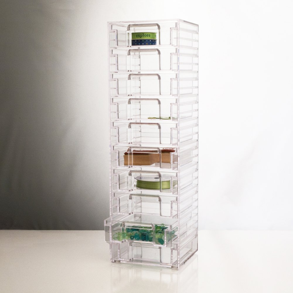 Clear Organizer Tower