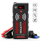 BEATIT G18 2000Amp Peak 12V Portable Car Jump Starter (Up to 8.0L Gas and Diesel) 21000mAh Portable Power Bank with Wireless Charger Auto Battery Booster Smart Jumper Cables (Color: 2000Amps, Tamaño: 2000Amps)