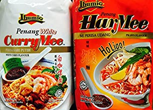 2 Flavors Combo Packs Ibumie Penang White Curry Mee amp Penang Har Mee Instant Soup Noodles