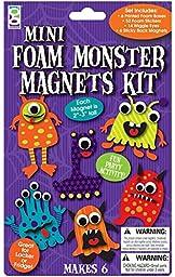 Raymond Geddes Foam Monster Magnet Craft Kit, 6 Per Pack, 12 Packs (18988)