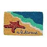 Entryways Starfish Welcome Hand Made Coir Doormat 18