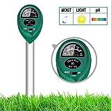 yoyomax Soil Test Kit pH Moisture Meter Plant Water Light Tester Testing Kits Garden Plants (Color: Green)