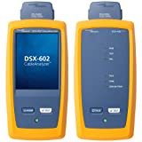Fluke Networks DSX-602 CableAnalyzer Copper Cable Certifier for Category 5, 5e, 6, & 6A Twisted-Pair Cabling, 500 MHz Range, Touchscreen, includes Channel Adapters, LinkWare Reporting