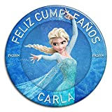 CHAPA personalizada, 77 mm, diseño de Elsa de Disney Frozen