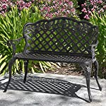 Best Choice Products® Patio Garden Bench Cast Aluminum Outdoor Garden Yard Solid Construction New