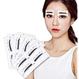 32 Pairs 4 Differnet Styles Eyebrow Shaping Stencil Templates Card Eyebrow Grooming Kit Reusable Design Eyebrows Styling Tool Eyebrows Sticker DIY Makeup Beauty Accessories (Color: white)
