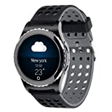 20mm Gear S2 Classic Smart Fitness Watch Band (SM-R732),Silicone Replacement for Samsung Galaxy Gear S2 Classic (Only for Classic Version) (Silicone band-07) (Color: Silicone band-07)