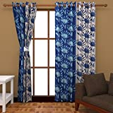 Ab home decor Polyester Window Curtains (Set of 2)- 5 Feet x 4 Feet,Blue