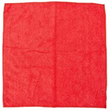 "Impact LFK450 Microfiber All-Purpose Cloth, 16"" Length x 16"" Width, Red (15 Bags of 12)"