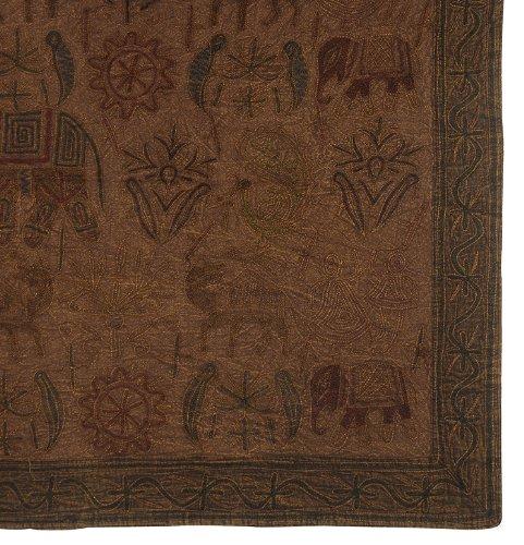 Imagen 2 de Algodón bordado hecho a mano tapiz Tapiz Decor Tamaño 33 x 60 pulgadas