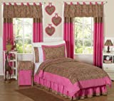 61tL3OiwKwL. SL160  Cheetah Girl Pink and Brown Teen Bedding 3pc Full / Queen Set by Sweet Jojo Designs