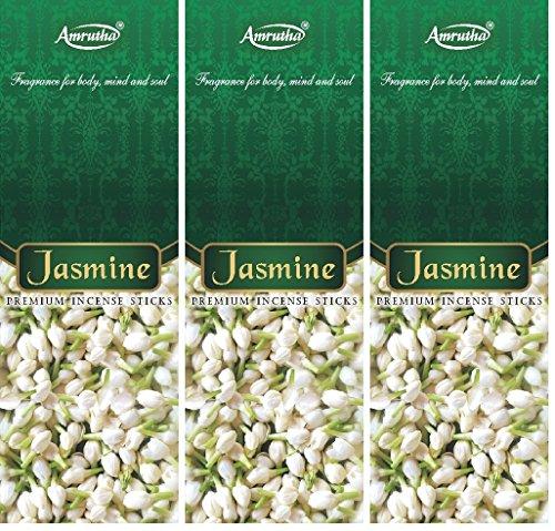Amrutha Aromatics Jasmine Incense Sticks 100 G (Pack Of 3)