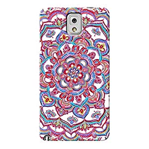 EYP Flower Circles Pattern Back Cover Case for Samsung Note 3