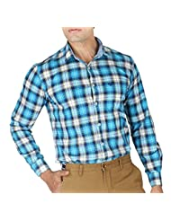 VETTORIO FRATINI By Shoppers Stop - Yarndyed Checks Shirt With Contrast Collar Band ,Sleeve Cuff And Inner Placket...