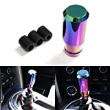ICBEAMER Manual Stick Shift Transmission Car Neo Chrome Racing Drifting Style Drift Shape Bar Shift Knob [Pack of 1]