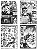 "Tim Holtz Cling Stamps 7""X8.5""-Holiday Collections"