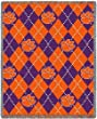 Clemson Univ Plaid - 69 x 48 Blanket/Throw - Clemson Tigers